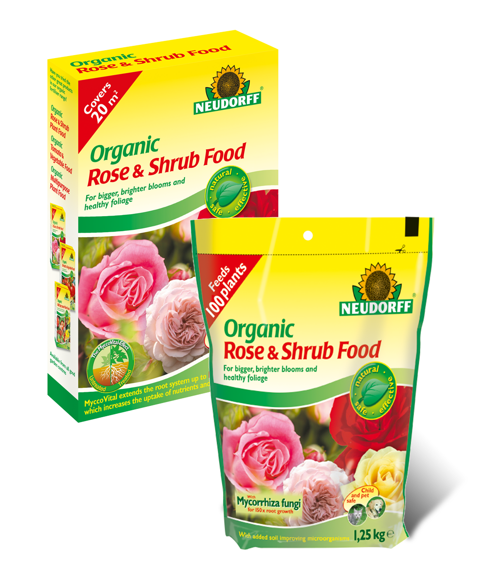 Neudorff organic rose shrub food for Cuisine rose